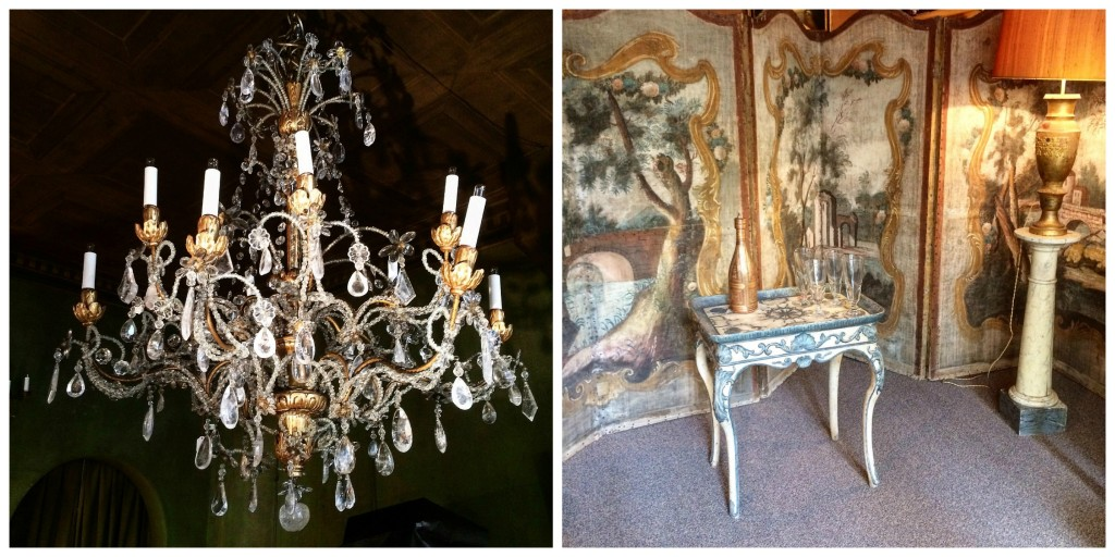 Chandelier, screen and other antiques at Yveline Antiquités │© Courtesy of Yveline Antiquités