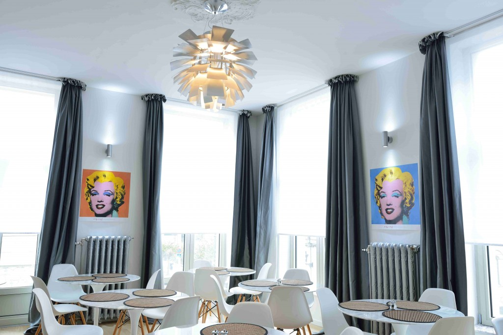 At Hotel Retro, Marilyn will watch over you during breakfast | Courtesy of Hotel Retro