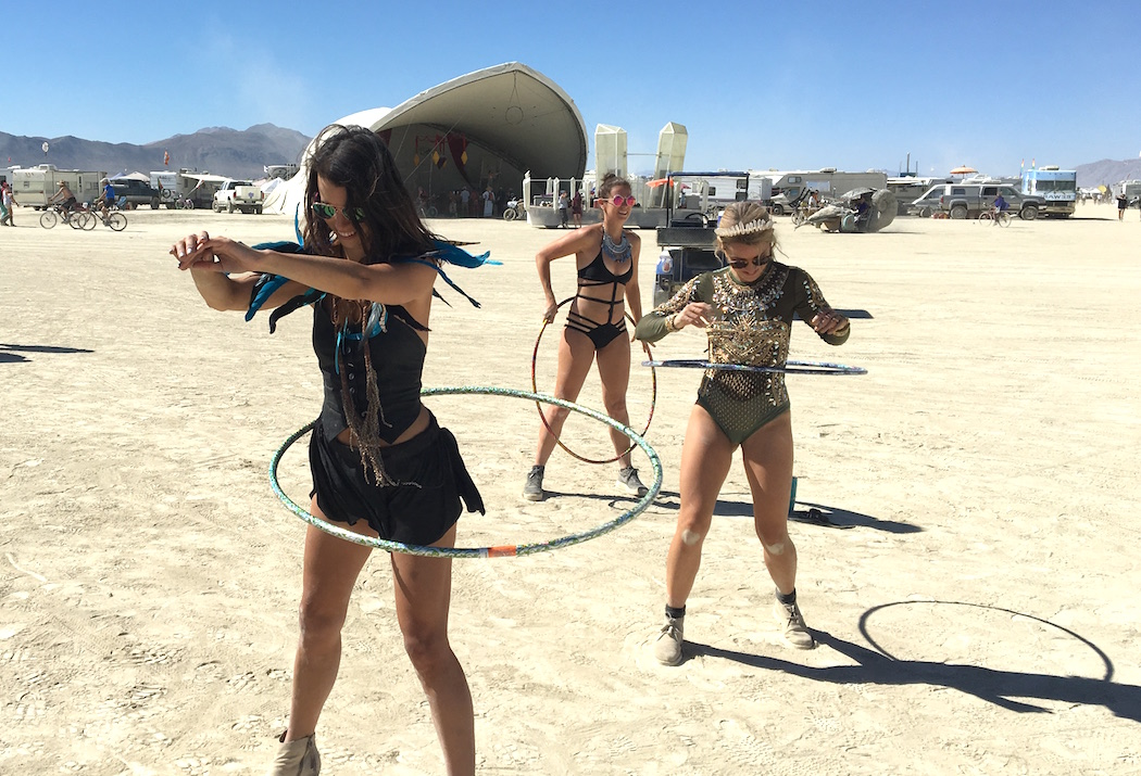 Hooping at Burning Man