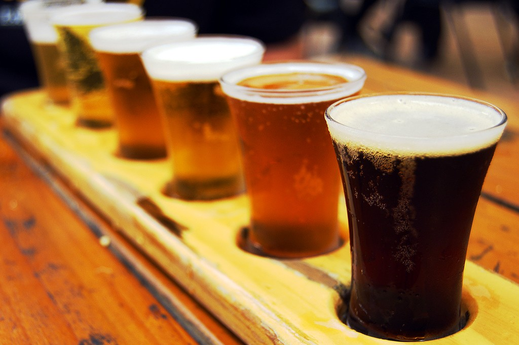 A flight of craft beer | © the NerdPatrol/Flickr