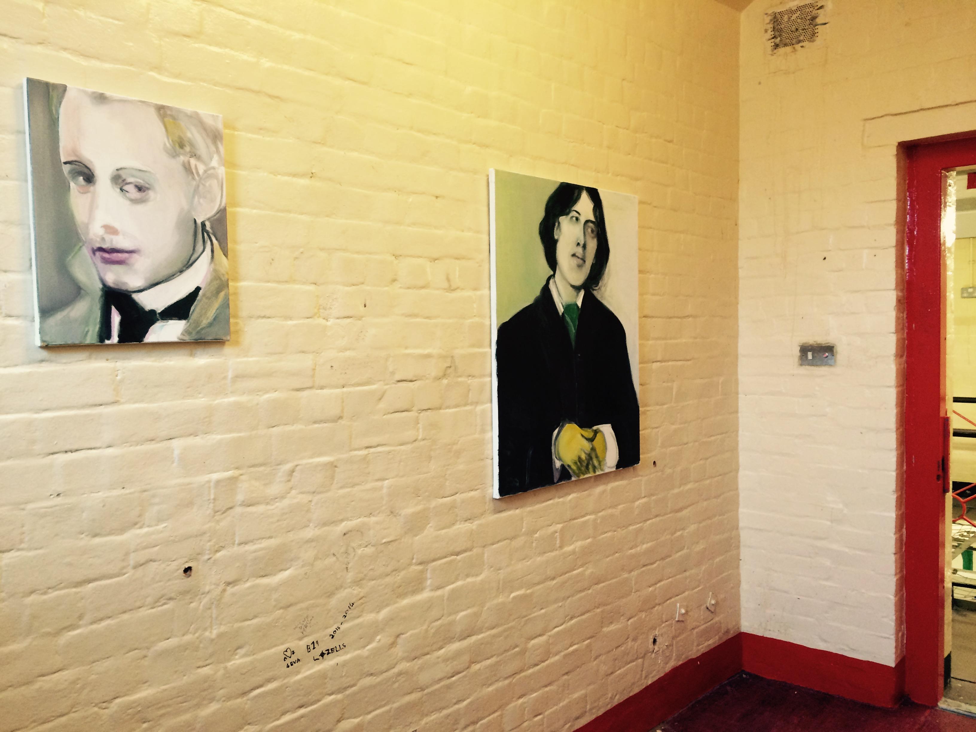 'Lord Alfred Douglas (Bosie)' and 'Oscar Wilde', Marlene Dumas, (2016), Inside: Artists and Writers in Reading Prison ©James Lingwood/Artangel