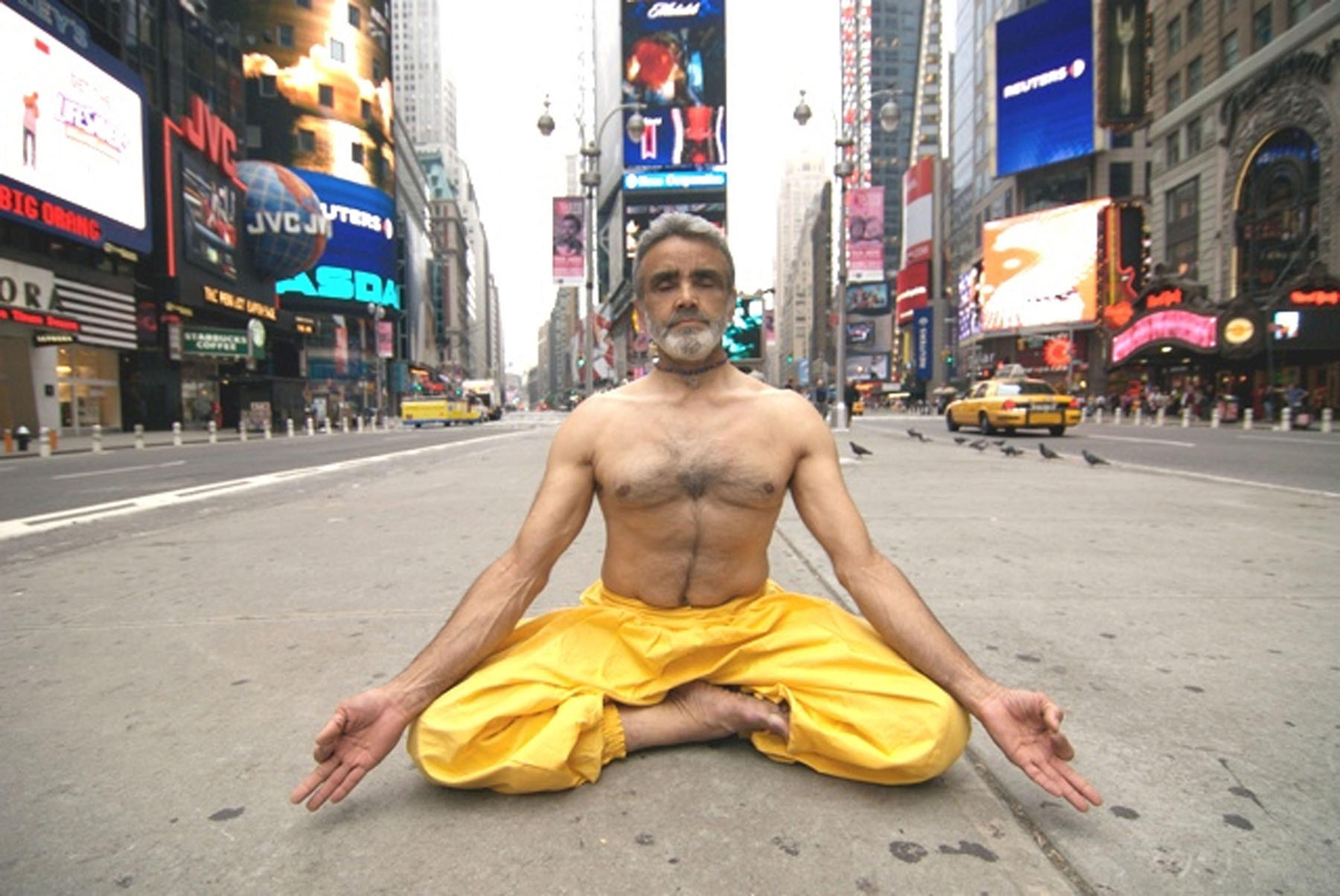 Sri Dharma Mittra in Times Square