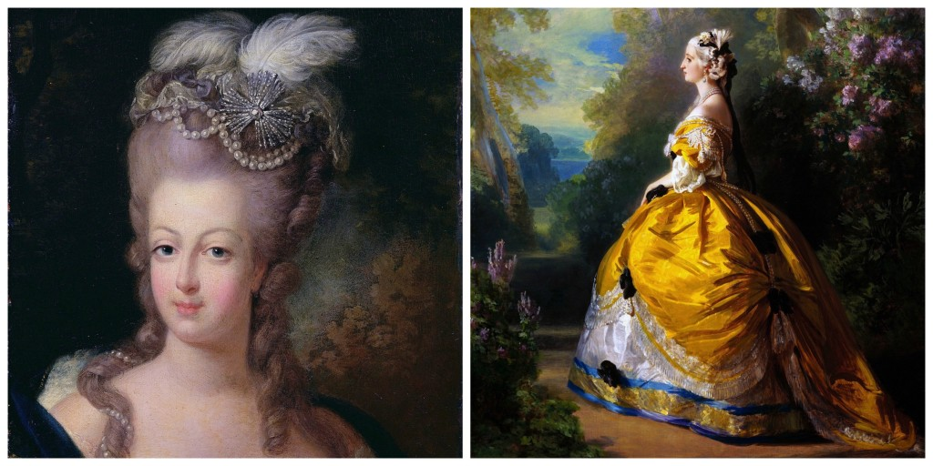 Portrait of Marie Antoinette │© WikiImages ││ Marie Antoinette in a gold dress │© tpsdave