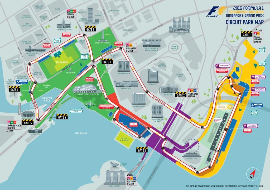 Marina Bay Street Circuit Map | Courtesy of Singapore Grand Prix