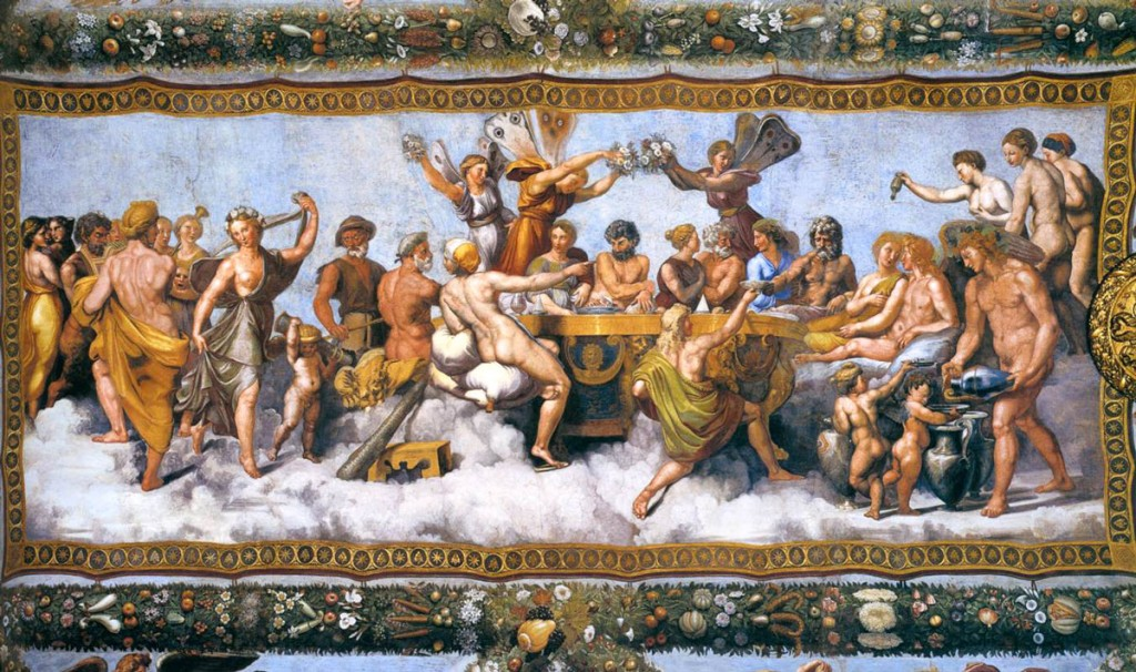 Raffaello's The Wedding Banquet of Cupid and Psyche   © WikiCommons