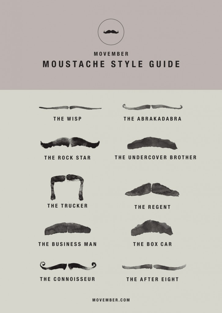 Movember Style Guide   Courtesy of Movember