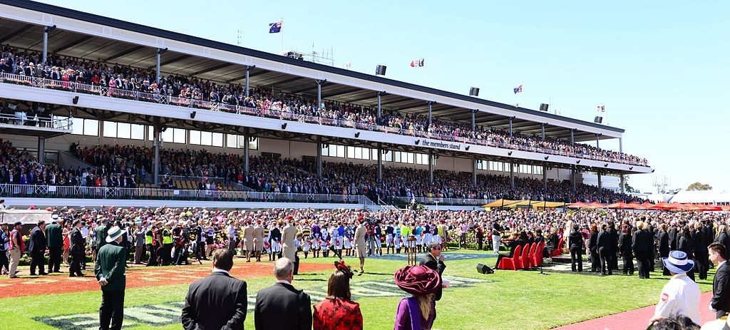 National anthem, Members Stand, 2013 Melbourne Cup