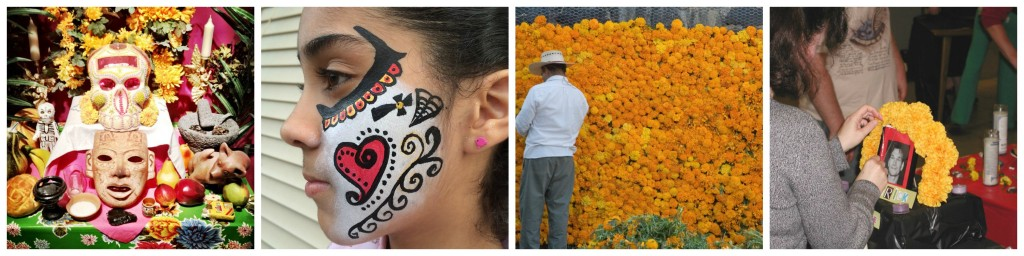 Day of the Dead | © Pelle Sten/Flickr / Catrina | © Gloriann Irizarry/Flickr / Cempasúchil (orange marigolds) | © Pual Asman and Jill Lenoble/Flickr / Altar | © Carmichael Library/Flickr
