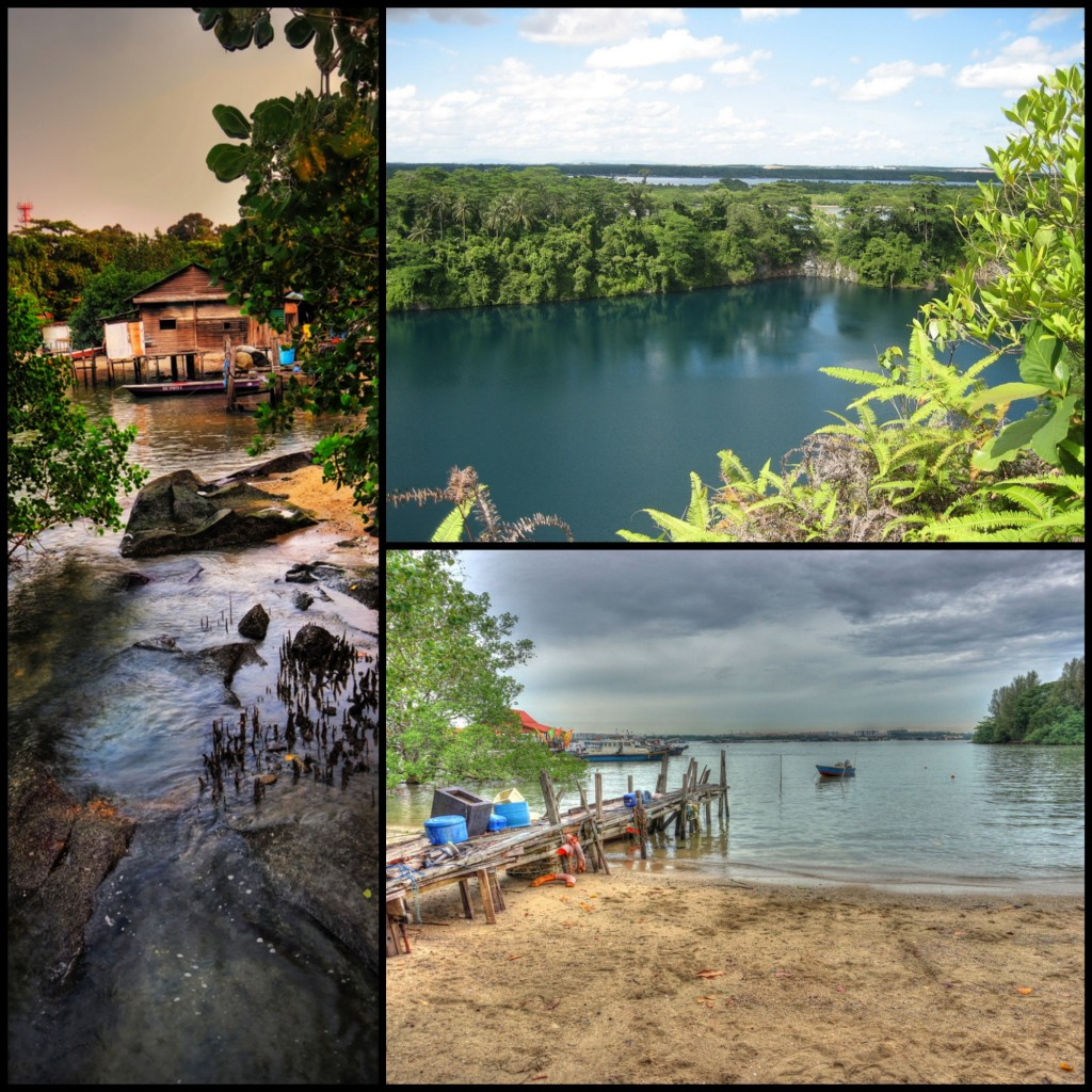 Traditional kampung house © William Cho | Former granite quarry © Power Gemini | Old boat jetty © Mike Cartmell