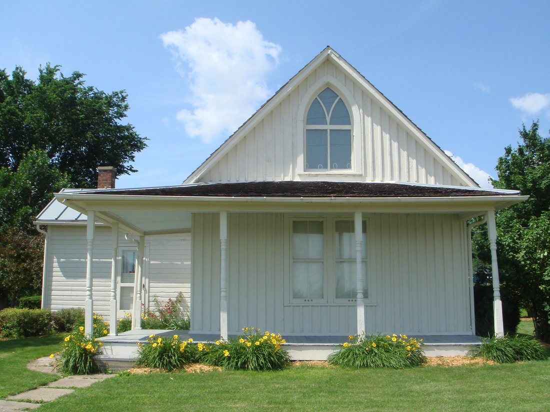 Dibble House, the inspiration for 'American Gothic' ©Jessica Strom/Wikicommons