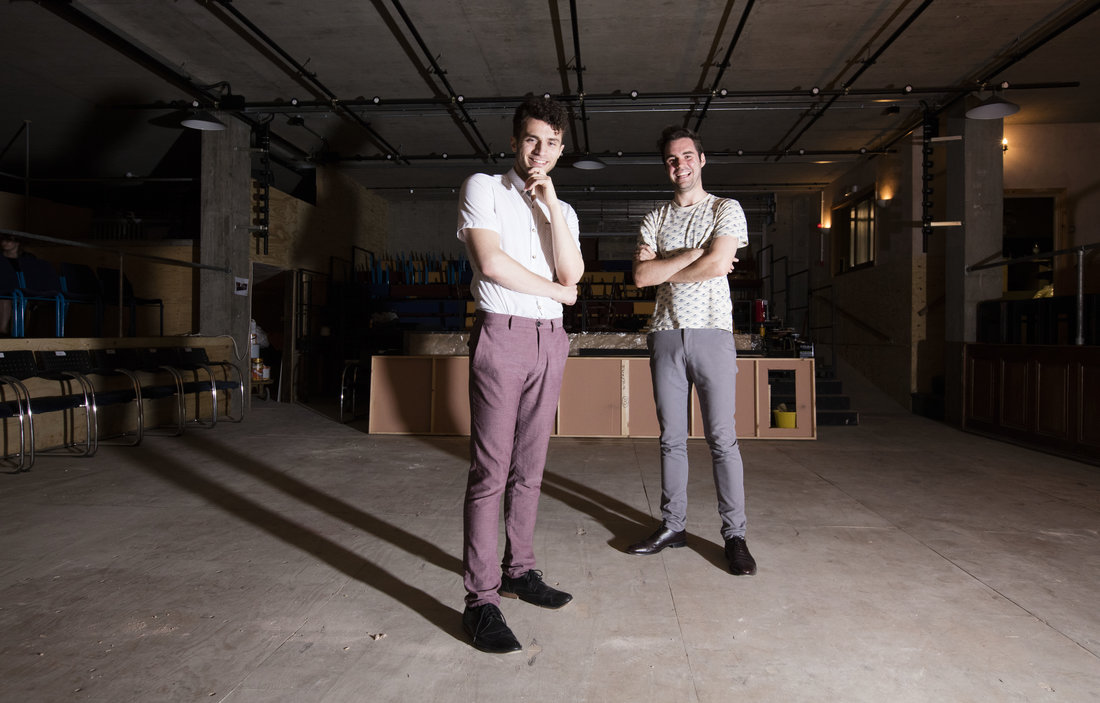 Joel Fisher (left) and Josh McTaggart (right) stand on the theatre floor at The Bunker|©Chris Gorman/The Bunker