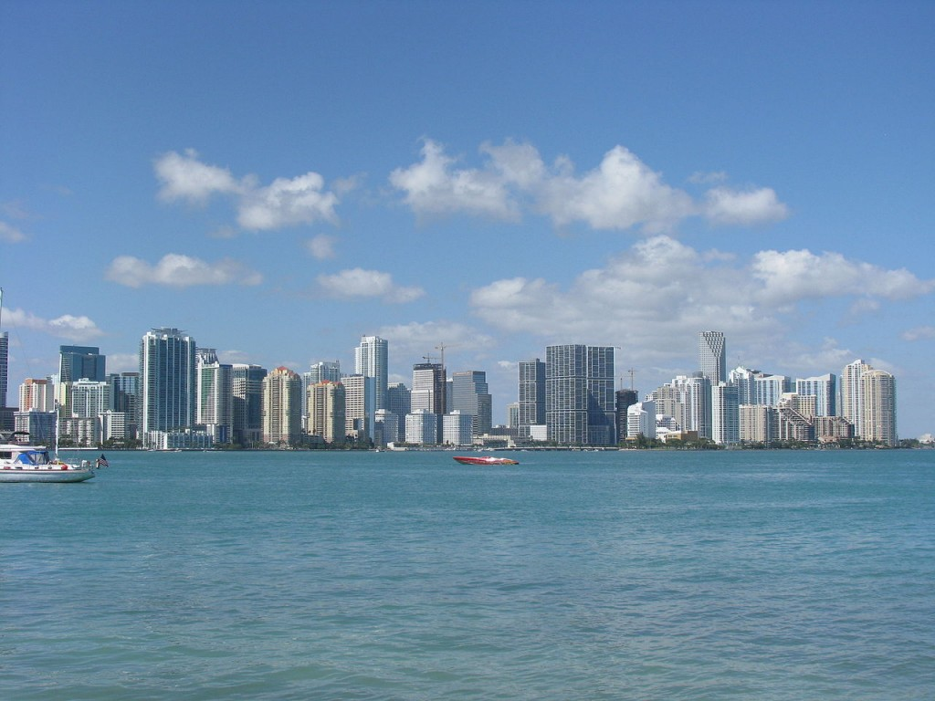 An incredible view of the Miami Skyline from the Rusty Pelican | Courtesy of Wikipedia Commons