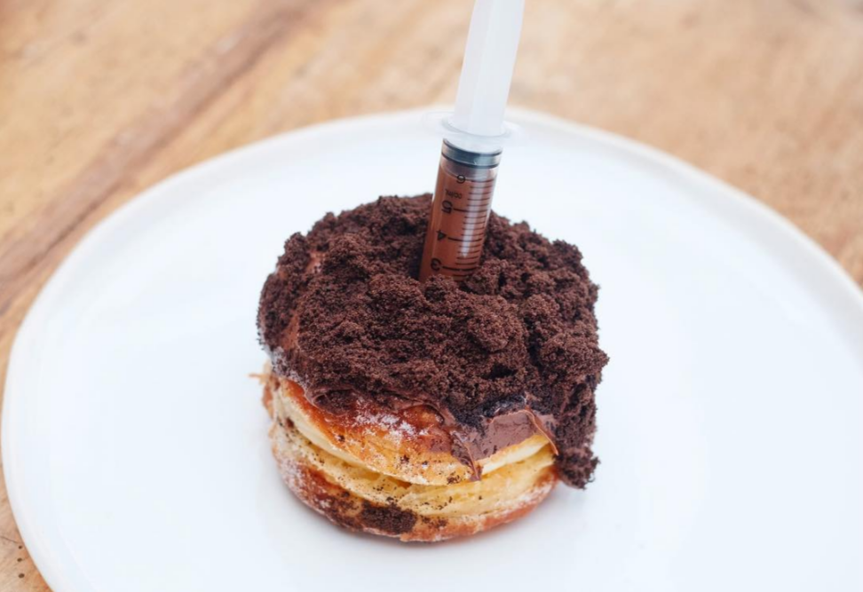Nutella-Injected Cronut with Crushed Oreos and Vanilla Custard Filling | Courtesy of The Grumpy Barista