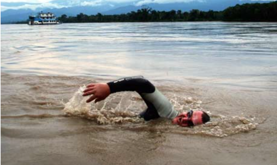 Martin Strel swims the Mighty Mississippi River, courtesy of New Orleans Adventure