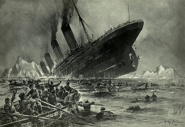 Engraving of the Titantic shipwreck | ©Willy Stöwer/Wikipedia