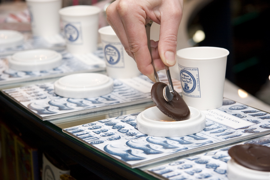 Tasting chocolate on the Chelsea Chocolate Ecstasy Tour|Image courtesy of Chocolate Ecstasy Tours