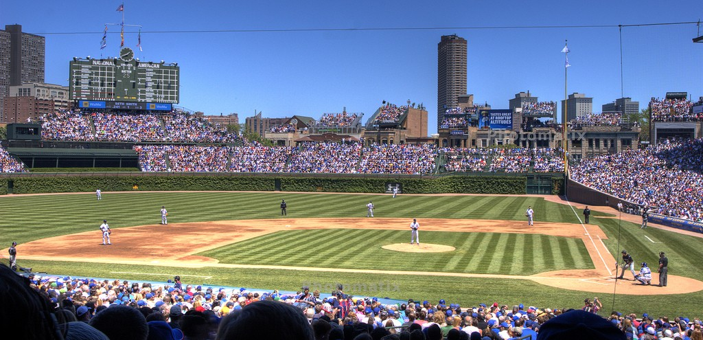 Wrigley Field, courtesy of Flickr: Jasen Leathers