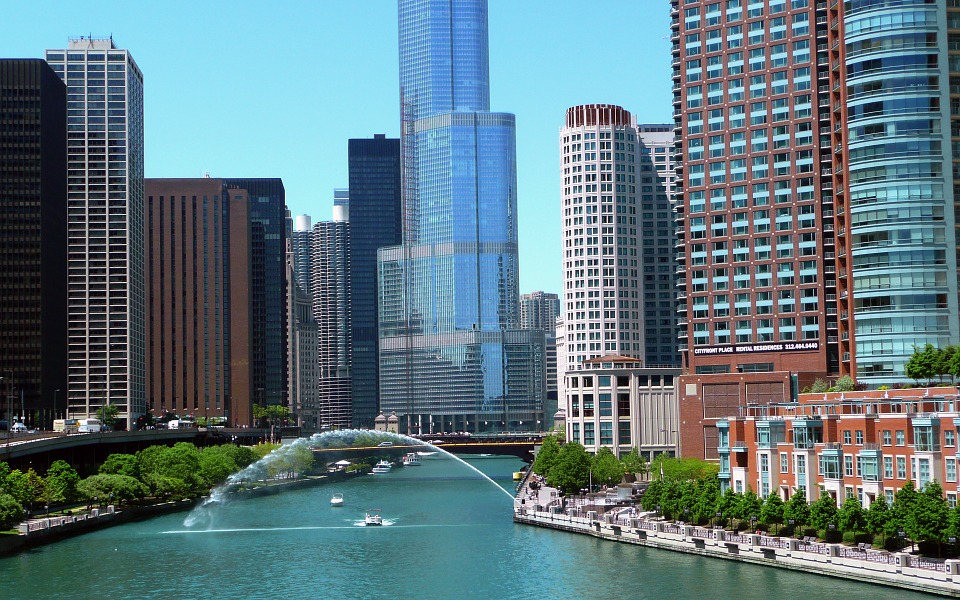 The Chicago River, courtesy of Pixabay