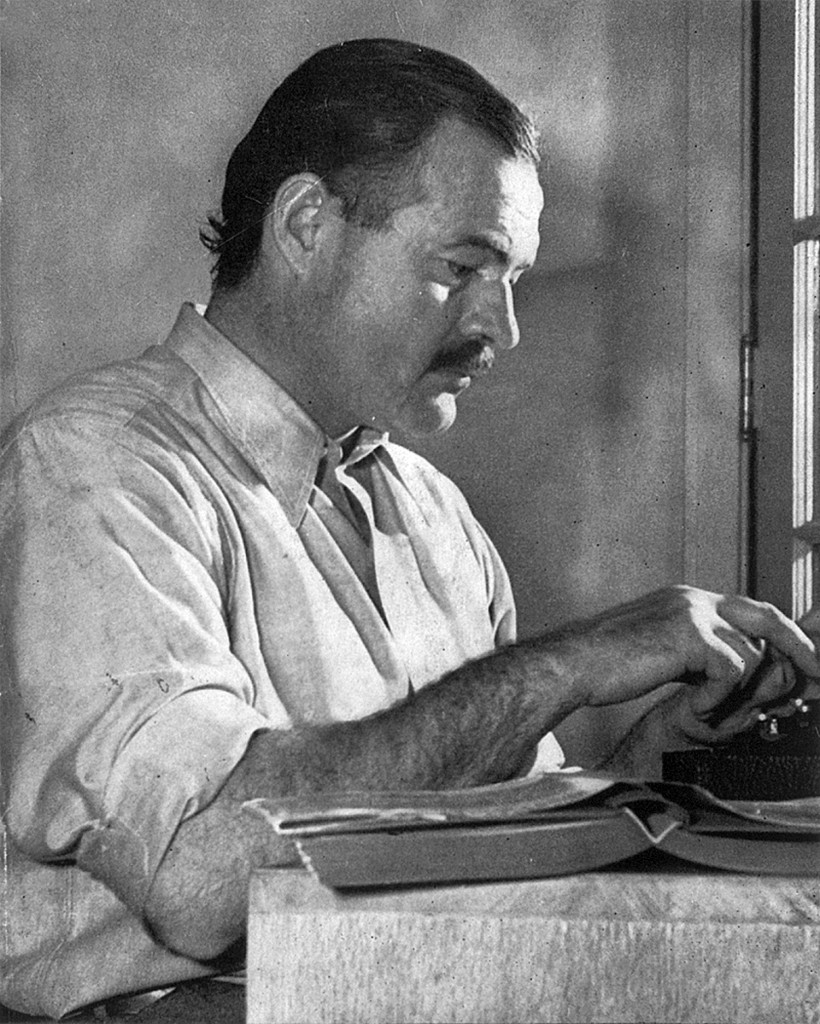 Ernest Hemingway, courtesy of Wikipedia