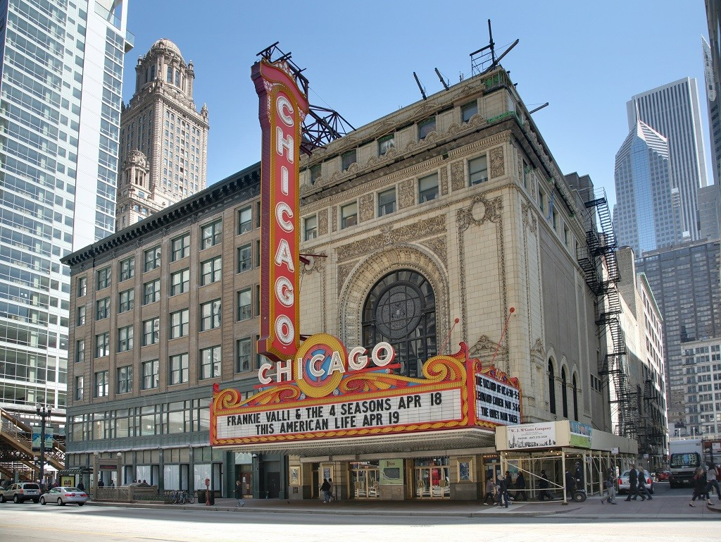 The Chicago Theatre, courtesy of Wikipedia