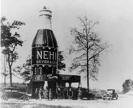 "Built in 1924, The Bottle, also known as the Nehi Inn, was one of the first ""world's largest"" roadside attractions 