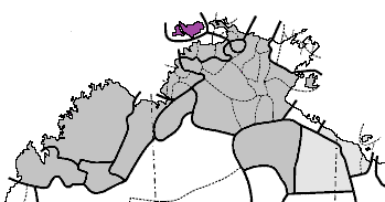 Map of the Northern Territory of Australia showing language borders with Tiwi shaded in purple | © Jangari / WikiCommons