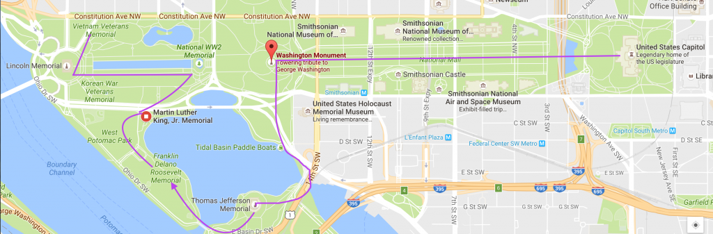 A Walking Guide To Washington D C S Monuments
