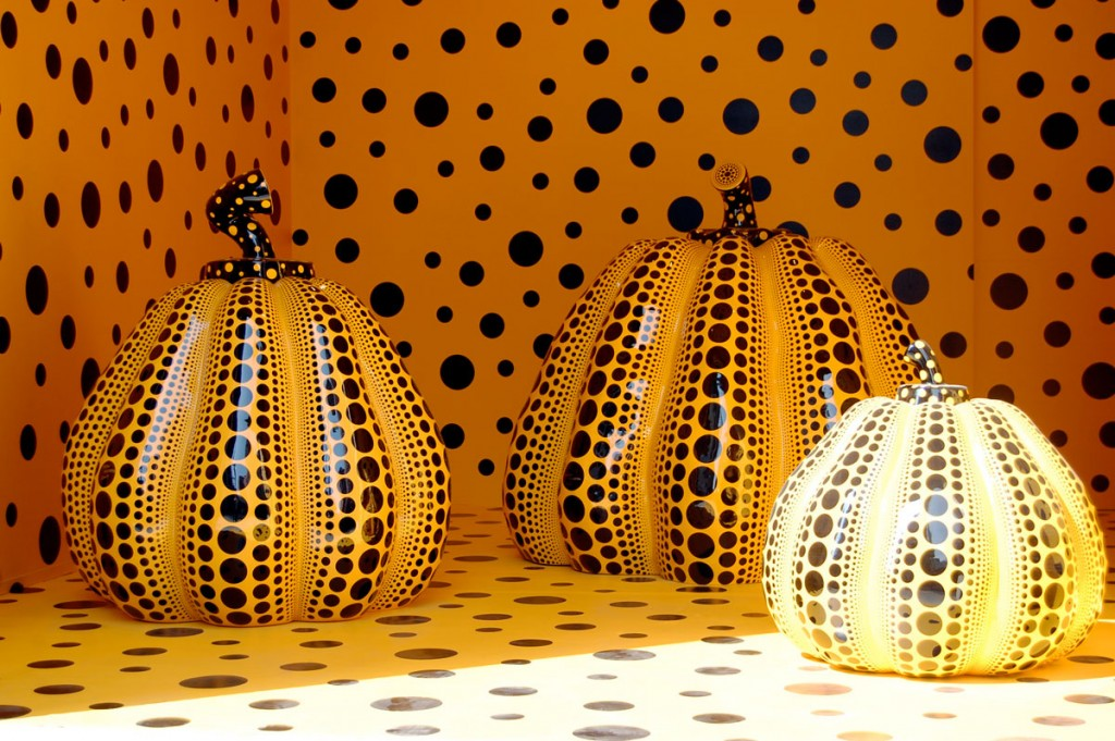 "Yayoi Kusama ""Pumpkins"" at the Gagosian Gallery in New York 