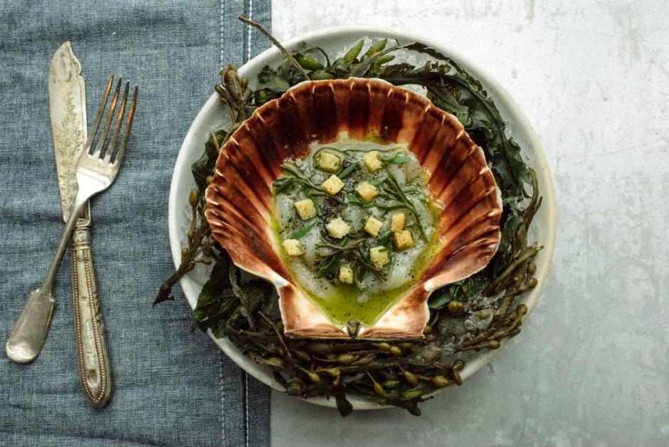 Seaweed Recipe At The Kitchin In Edinburgh