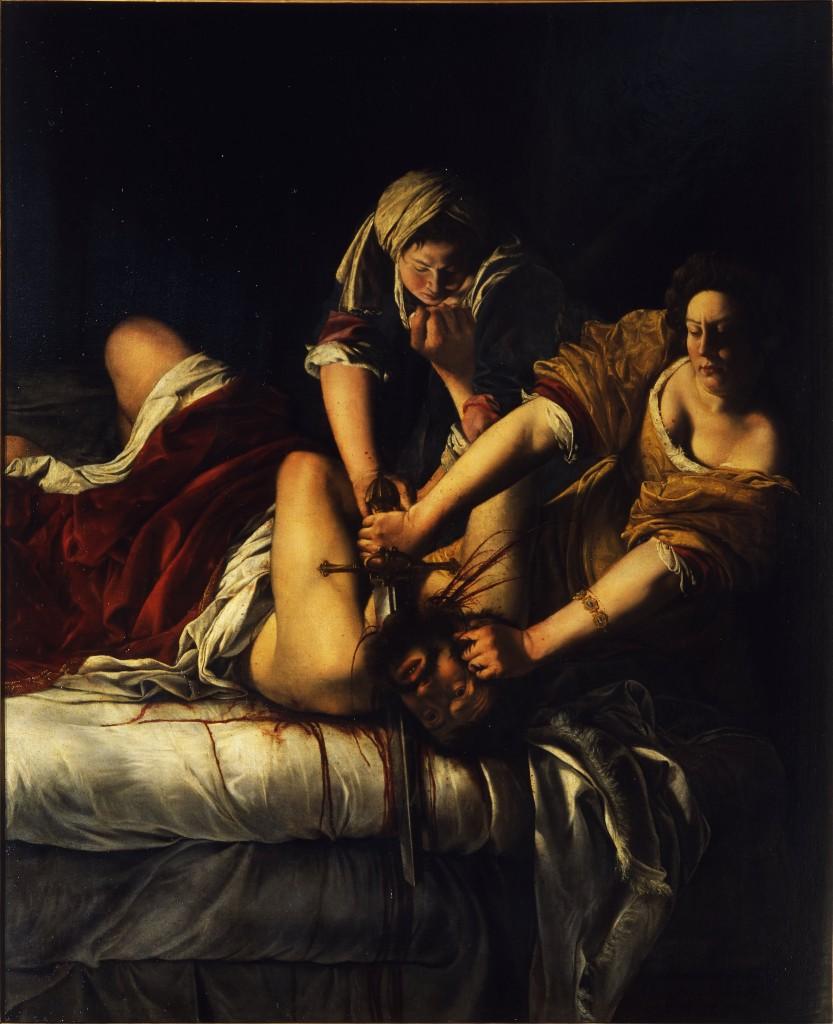 "Artemisia Gentileschi, 'Judith Beheading Holofernes', 1614–1620 | <a href=""https://en.wikipedia.org/wiki/Judith_Slaying_Holofernes_(Artemisia_Gentileschi)#/media/File:Artemisia_Gentileschi_-_Judith_Beheading_Holofernes_-_WGA8563.jpg"" target=""_blank"" rel=""noopener"">© WikiCommons</a>"