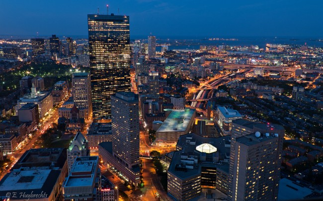Boston by night| ©Emmanuel Huybrechts/Flickr