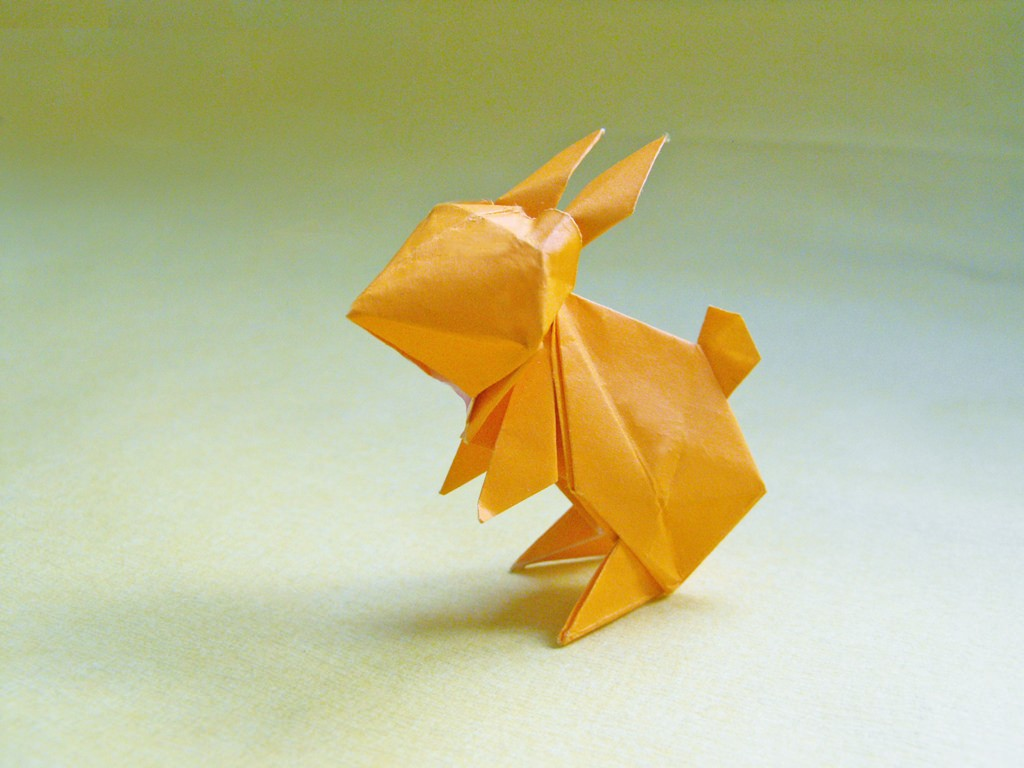 An introduction to the art of origami an origami rabbit alejandro de la fuenteflickr jeuxipadfo Images