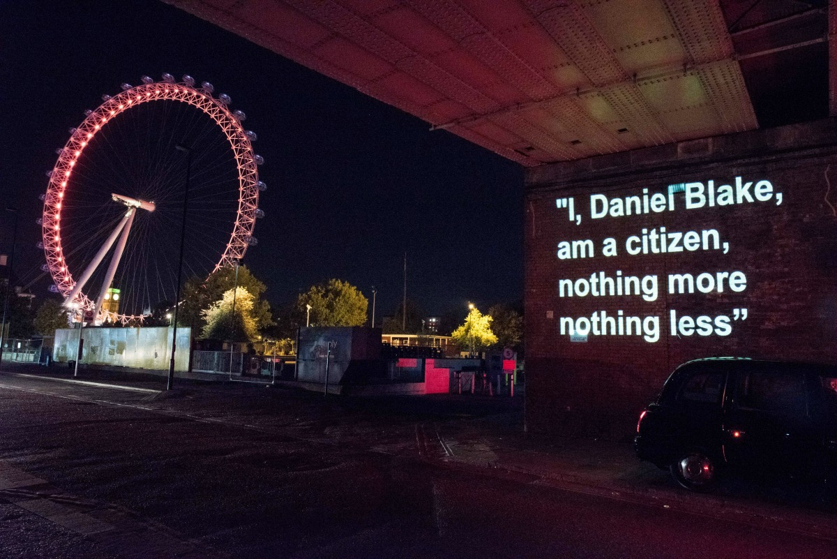 At T Wifi Customer Service >> I, Daniel Blake: Powerful Message Beamed Onto The Houses Of Parliament