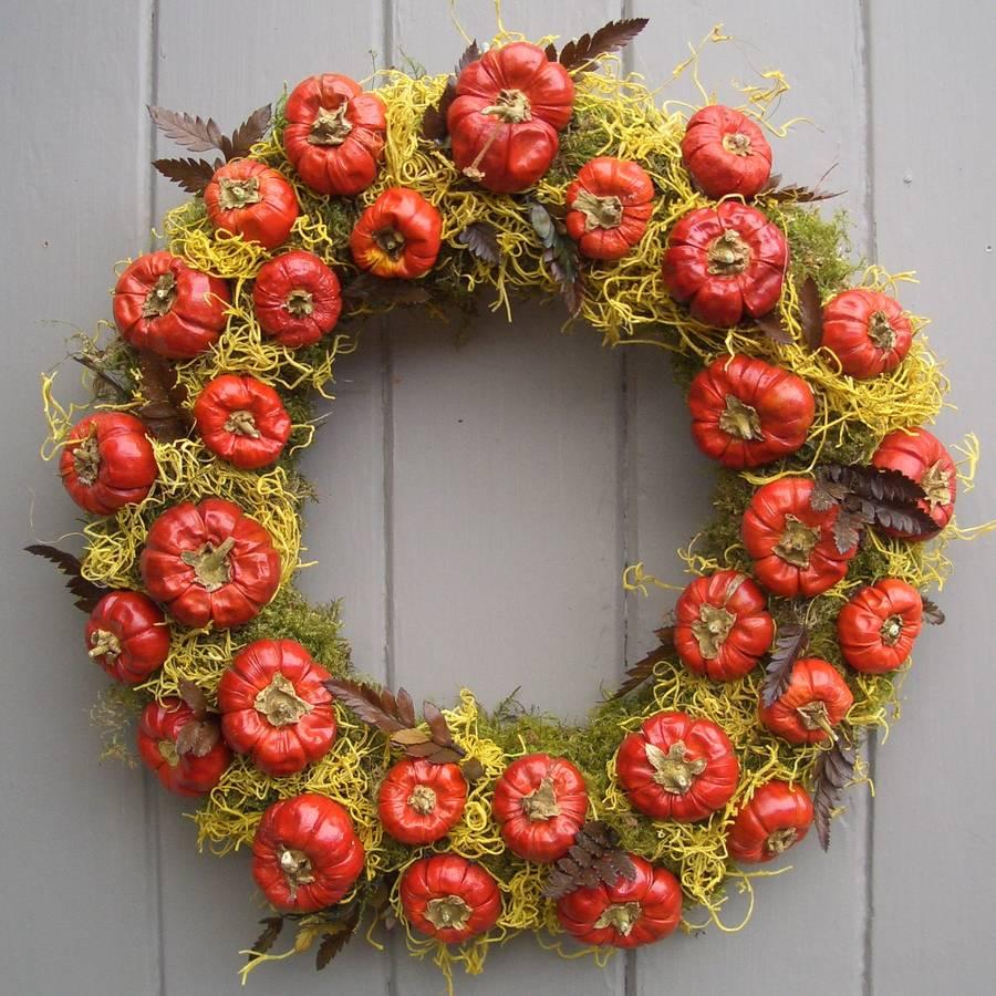 Original Halloween Pumpkin Wreath