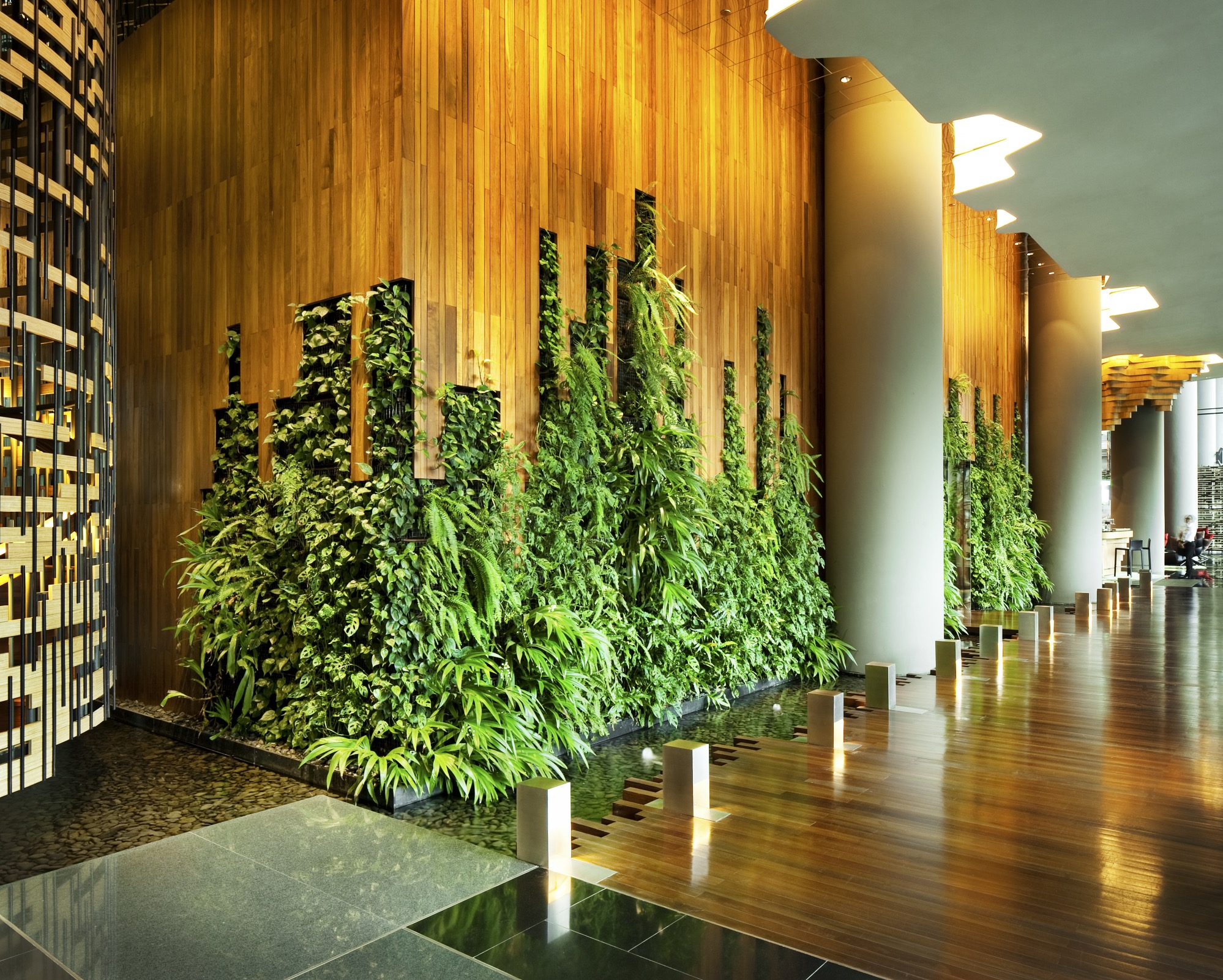 Is singapore the most eco friendly country in asia for Hotel wall design