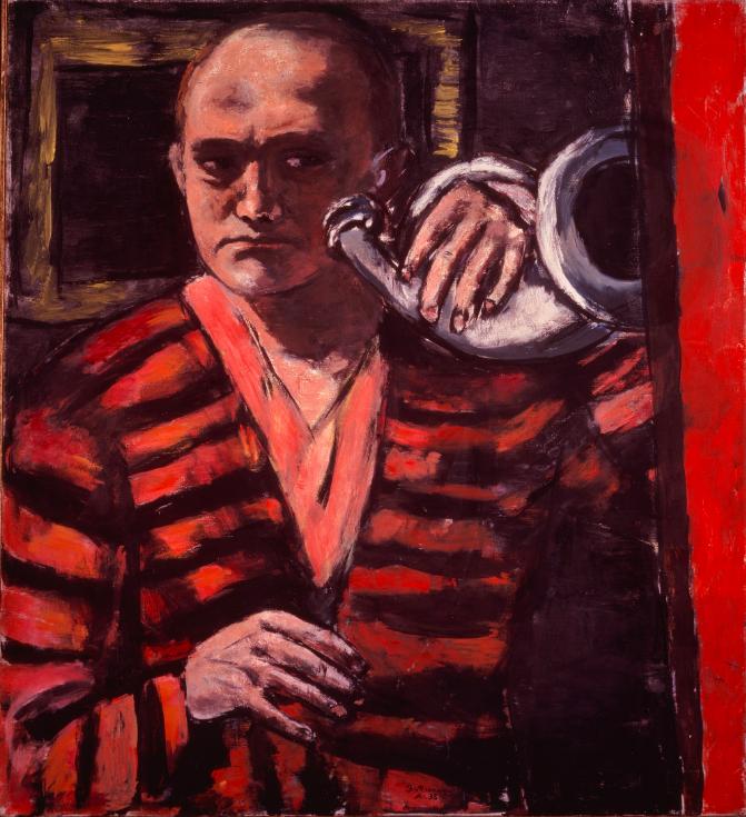 'Self Portrait With Horn' (1938) | © 2016 Artists Rights Society (ARS), New York / VG Bild-Kunst, Bonn