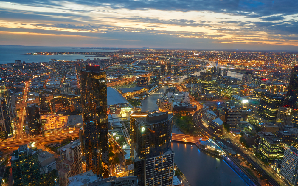 Melbourne view from Eureka Skydeck 88 © Doratoy / Shutterstock