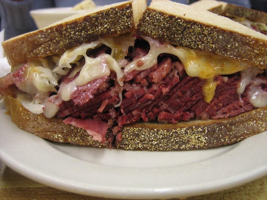 A deli classic reuben sandwich, courtesy of Wikipedia