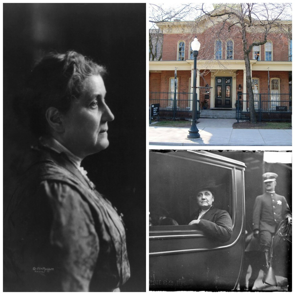 Left & Bottom Right: Jane Addams; Top Right: Hull House; all photos courtesy of Wikipedia