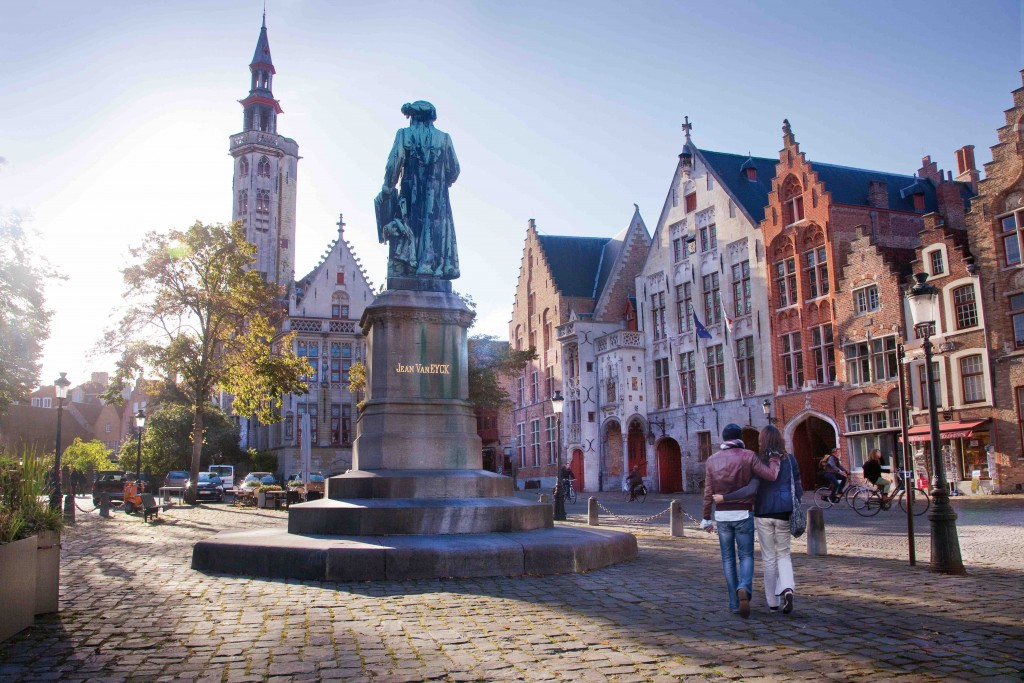 The Jan Van Eyck Square in Bruges l © Jan D'Hondt/courtesy of Toerisme Brugge