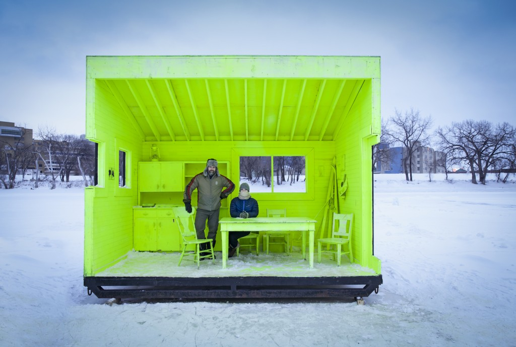 Hygge House Warming Hut by Plain Projects, Pike Projects and Urbanink in Winnipeg, Canada | © Paul Turang