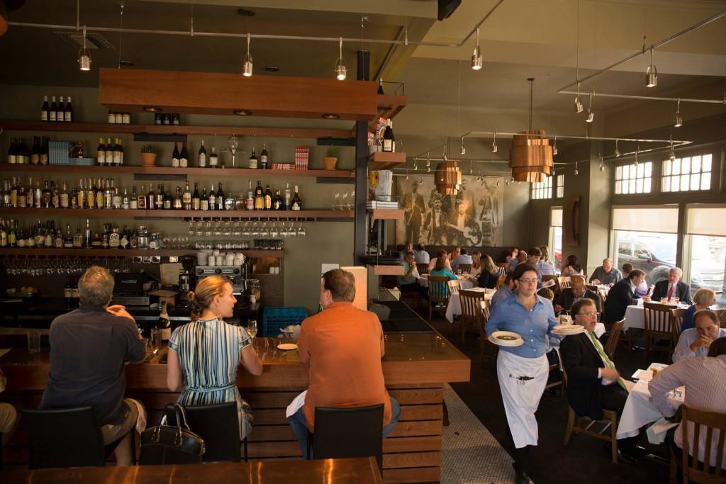 Herbsaint Restaurant dinning room, courtesy of Herbsaint Restaurant.