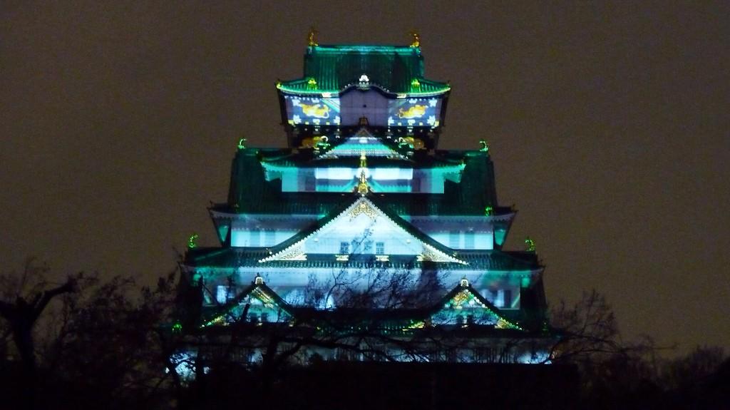 Освещение замка в Осаке |  © kimubert / Flickr