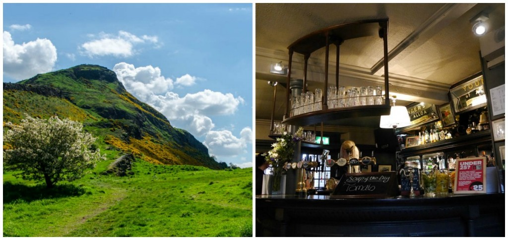 Arthurs Seat | © City.And.Color/Flickr // Sheep Head Inn | © WikiCommons