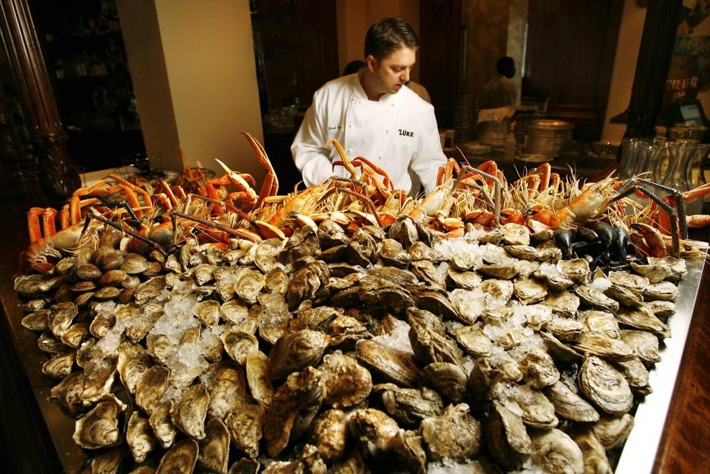 Fresh oysters at Lüke, courtesy of Lüke restaurant.