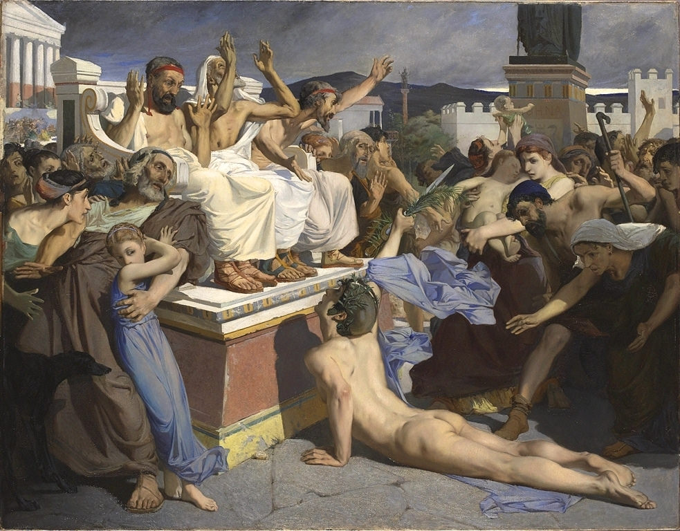 Pheidippides delivered a message of victory to the Athenians.
