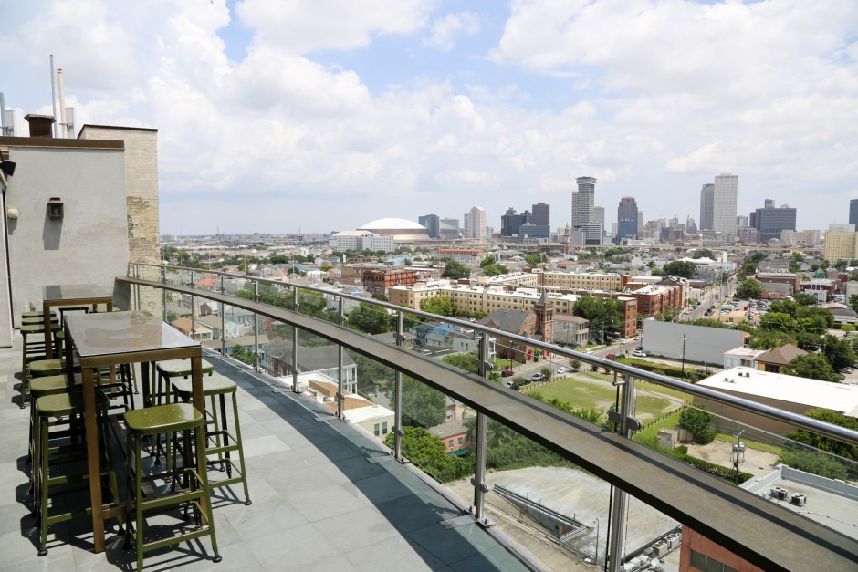 The Pontchartrain Hotel's Hot Tin rooftop bar, courtesy of the Pontchartrain Hotel.