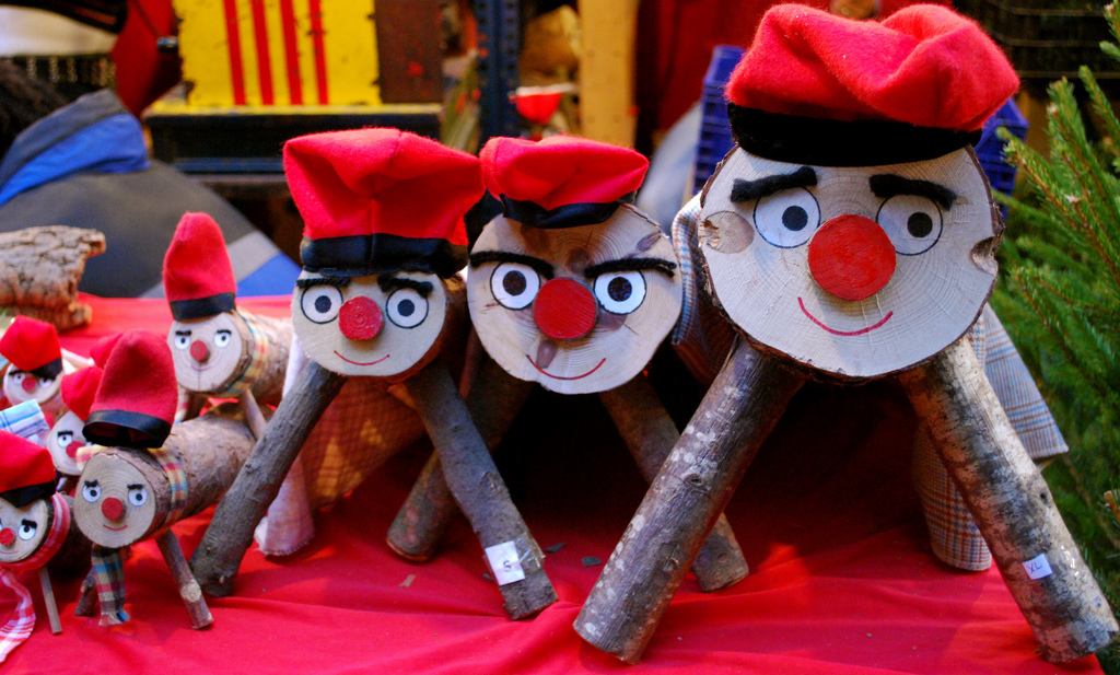 Who Is Caga Tió, and Why Do Kids Beat Him Up?