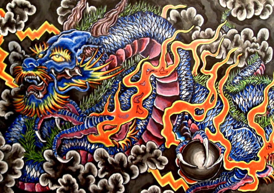 Blue dragon tattoo ©DAVID DAVIS