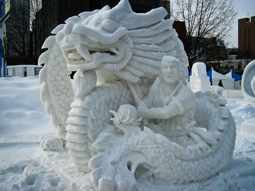 Снежная скульптура команды Гонконга на фестивале снега Саппоро |  © SteFou! / Flickr